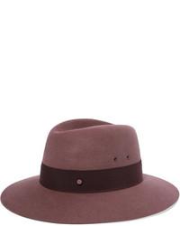 dunkelroter Hut von Maison Michel