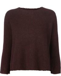 dunkelroter kurzer Pullover von 3.1 Phillip Lim