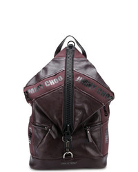 dunkelroter Leder Rucksack von Jimmy Choo