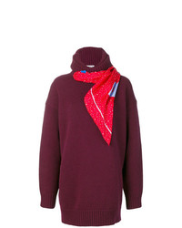 dunkelroter Oversize Pullover von Balenciaga