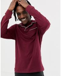 dunkelroter Polo Pullover von ASOS DESIGN