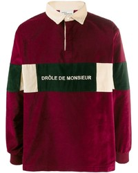 dunkelroter Polo Pullover von Drôle De Monsieur