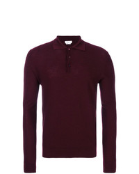 dunkelroter Polo Pullover von Fashion Clinic Timeless