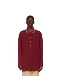 dunkelroter Polo Pullover von Gucci