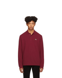 dunkelroter Polo Pullover von Lacoste