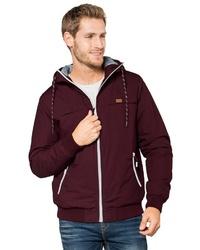 dunkelroter Pullover mit einem Kapuze von Eight2Nine
