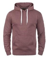 dunkelroter Pullover mit einem Kapuze von Solid