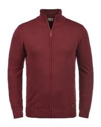 dunkelroter Pullover mit einem Reißverschluß von BLEND