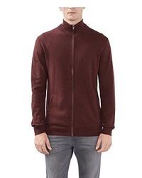 dunkelroter Pullover mit einem Reißverschluß von Esprit