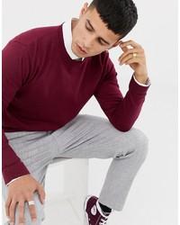dunkelroter Pullover mit einem Rundhalsausschnitt von ASOS DESIGN