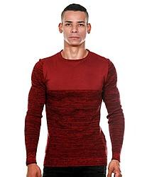 dunkelroter Pullover mit einem Rundhalsausschnitt von CE&CE