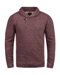 dunkelroter Pullover mit einem Schalkragen von BLEND