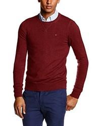 dunkelroter Pullover von Hilfiger Denim