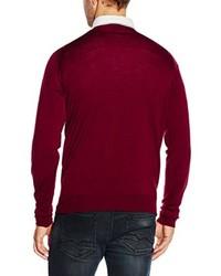 dunkelroter Pullover von John Smedley