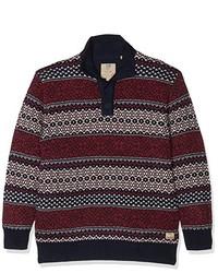 dunkelroter Pullover von JP 1880