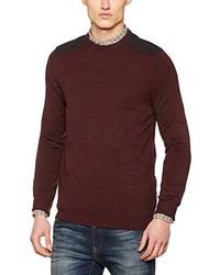 dunkelroter Pullover von New Look