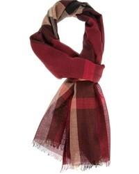 dunkelroter Schal mit Schottenmuster