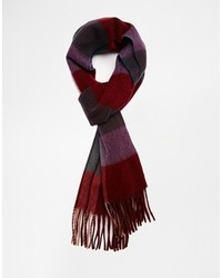 dunkelroter Schal mit Schottenmuster von Asos