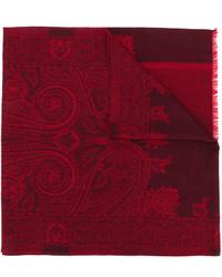 dunkelroter Seideschal mit Paisley-Muster von Etro