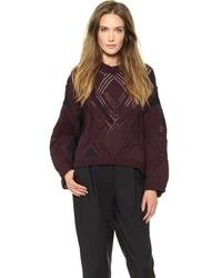 dunkelroter Strick Oversize Pullover von 3.1 Phillip Lim
