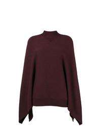 dunkelroter Strick Oversize Pullover von Givenchy