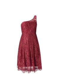 dunkelrotes ausgestelltes Kleid aus Spitze von Martha Medeiros