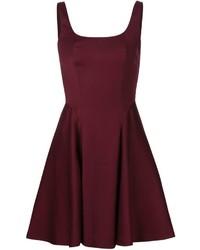 dunkelrotes ausgestelltes Kleid von Alice + Olivia