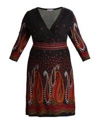 dunkelrotes ausgestelltes Kleid von Anna Field