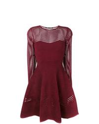 dunkelrotes ausgestelltes Kleid von Antonino Valenti