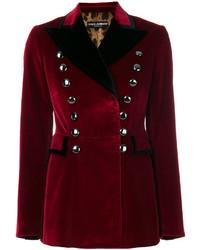 dunkelrotes Baumwollsakko von Dolce & Gabbana