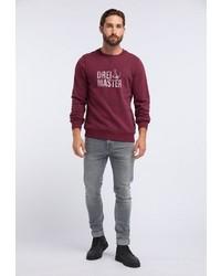dunkelrotes bedrucktes Sweatshirt von Dreimaster