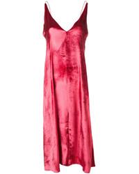 dunkelrotes Camisole-Kleid aus Samt von Forte Forte