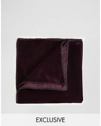 dunkelrotes Einstecktuch von Reclaimed Vintage