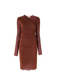 dunkelrotes figurbetontes Kleid von A.F.Vandevorst