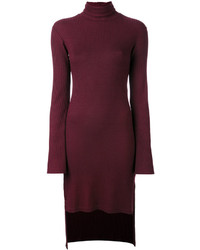dunkelrotes Kleid von MM6 MAISON MARGIELA