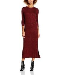 dunkelrotes Kleid von Vero Moda