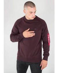 dunkelrotes Sweatshirt von Alpha Industries