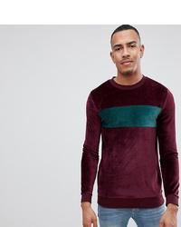 dunkelrotes Sweatshirt von ASOS DESIGN