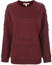 dunkelrotes Sweatshirt von Marc Jacobs