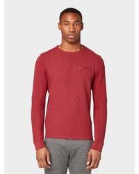 dunkelrotes Sweatshirt von Tom Tailor