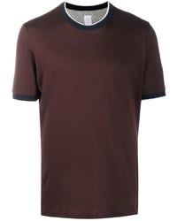 dunkelrotes T-Shirt mit einem Rundhalsausschnitt von Eleventy