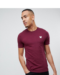 dunkelrotes T-Shirt mit einem Rundhalsausschnitt von Good For Nothing
