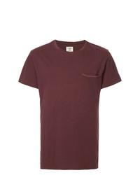 dunkelrotes T-Shirt mit einem Rundhalsausschnitt von Kent & Curwen