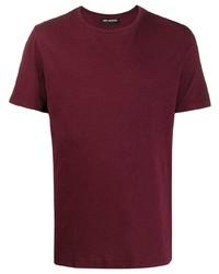 dunkelrotes T-Shirt mit einem Rundhalsausschnitt von Neil Barrett