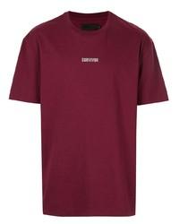 dunkelrotes T-Shirt mit einem Rundhalsausschnitt von Off Duty