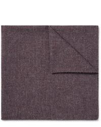 dunkelrotes Wolleinstecktuch von Oliver Spencer