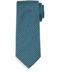 dunkeltürkise bedruckte Krawatte