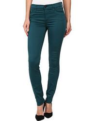 dunkeltürkise enge Jeans