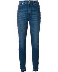 dunkeltürkise enge Jeans von Alexander McQueen