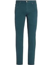 dunkeltürkise enge Jeans von Ermenegildo Zegna